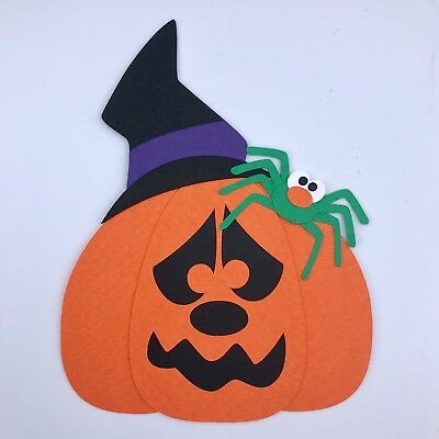 Fully assembled HALLOWEEN PUMPKIN scrapbook paper piecing / die cut