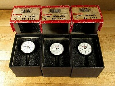 LOT OF 3 Starrett 80-144J Mini Indicator Dial IN BOXES