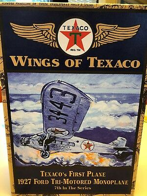 Wings Of Texaco #7; Model Airplane; 1927 Ford Tri-Motor; DIE CAST COLLECTABLE