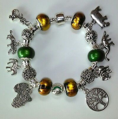 Disney Parks Animal Kingdom Safari Themed Charm Bracelet W