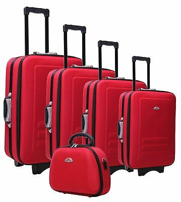 5pcs Luggage Suitcase Travel Trolley Carry Hard Case Lightweight Bag RED