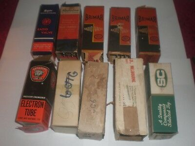 10  Radio Valves incl. Brimar/AWV/SC in Boxes Untested