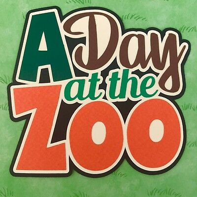 Fully assembled 'A Day at the Zoo' scrapbook title