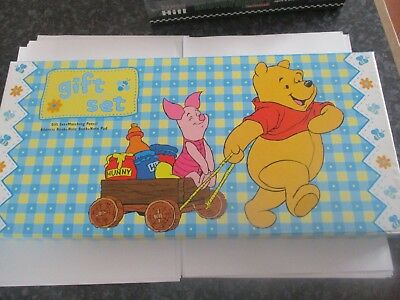 Winnie the Pooh - Note Book Gift Set - NEW/SEALED Stationary Childs Writing Set