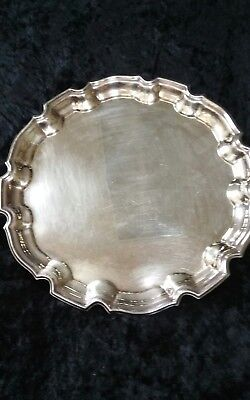 """TIFFANY & CO SILVER Plate ROUND SERVING TRAY 12.5"""" / AT&T 1986 Award 100% 🙆RARE"""