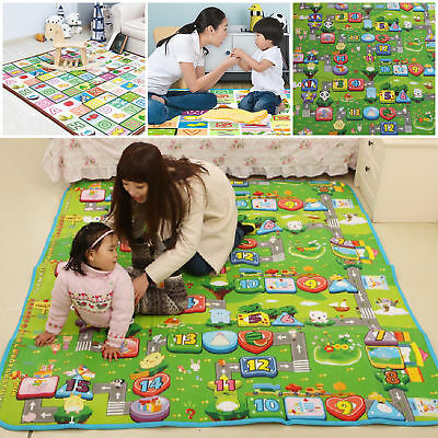 200x180cm 2 Side Kids Crawling Educational Baby Play Mat Soft Foam Carpet New