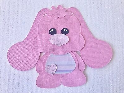 Fully assembled pink Baby Bunny die cut / paper piecing