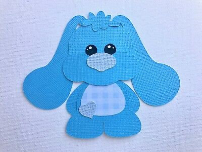 Fully assembled blue Baby Bunny die cut / paper piecing