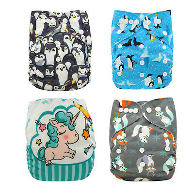Washable Cloth Diapers Newborn Soft Reusable Nappies Waterproof Pocket Diapers
