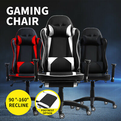 Executive Gaming Office Chair Racing Computer PU Leather w/ Recliner