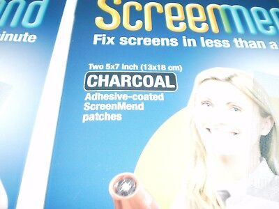 1 pack Screenmend Window and Door Screen DIY Repair Charcoal Color 5 x 7 inch