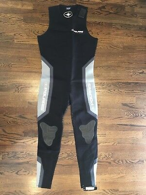 NWT PURE POLARIS Wet Suit Men's Size XL Full Length Sleeveless New Black Gray