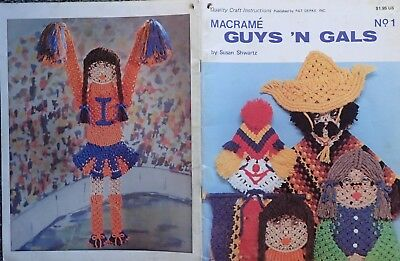 Fun Macrame Guys 'n Gals No. 1 Pattern Book by Susan Shwartz-Illustrated Knots