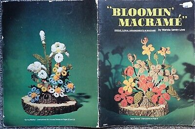 Macrame Pattern Book -Bloomin' Macrame-Unique Flower Arrangements-By Wanda Love