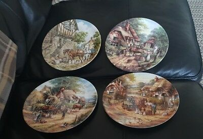 3 Wedgwood Country Days Collectors Plates Apple Pickers etc plus 1 more wedgwood