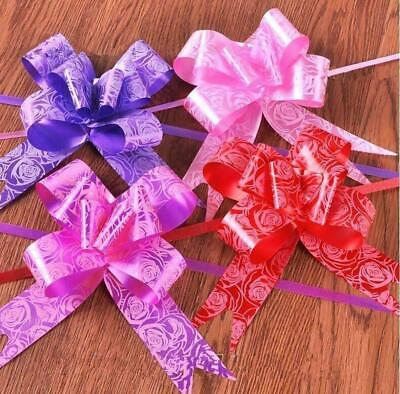 10 Pull Bows 30 mm Wedding Car Gift Wrap Ribbon Florist Pew Xmas Decorations