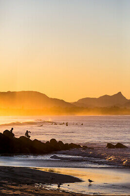 Winter Sunset at Byron Bay by Andrew Wilson Seascape Print