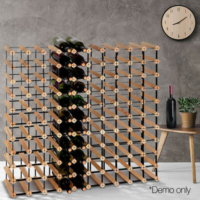 110 Bottle Timber Wine Rack Wooden Storage Cellar Vintry Bar Display Organiser L
