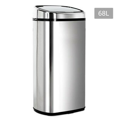 68L Automatic Motion Sensor Rubbish Bin Hands Free Waste Basket Trash Can