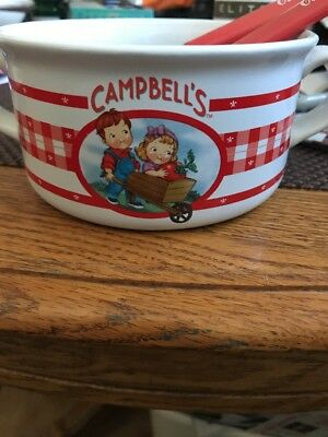 Cute Campbell Soup Bowl Campbells Branded With Two Spoons