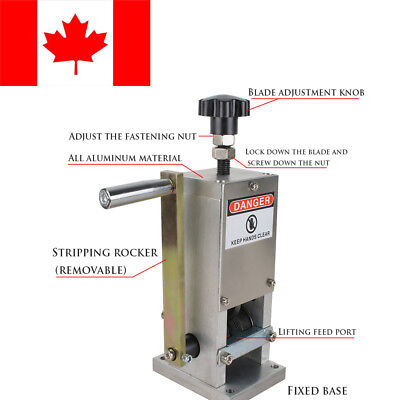 Manual Copper Wire Stripping Machine Cable Stripper Scrap Metal Recycle Use FDA