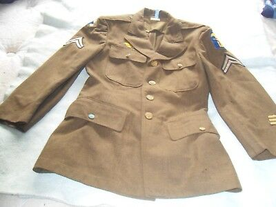 WW2 WWII US U.S. Dress Uniform Coat,Jacket,Wool, Nice Patches Original,Military