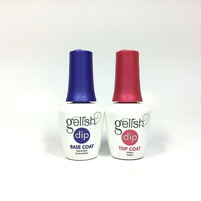 Gelish Harmony SNS Dip Systems Top Coat Base Coat 0.5oz / 15ml #1640004