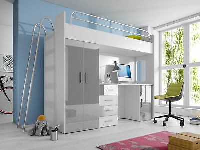 design kinderzimmer mit hochbett etagenbett xxl kleiderschrank in 25 farben eur. Black Bedroom Furniture Sets. Home Design Ideas