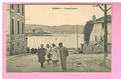 Cpa  -  Hendaye- 64 -   L'embarcadere -  Carte Animee