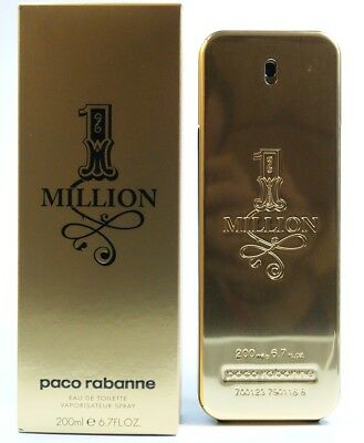 Paco Rabanne One Million EDT 200 ml  Eau de Toilette Spray 1 Million  NEU