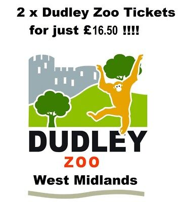 Dudley Zoo ticket admits 2 People for just £16.50 Valid Until 31th Dec 2018