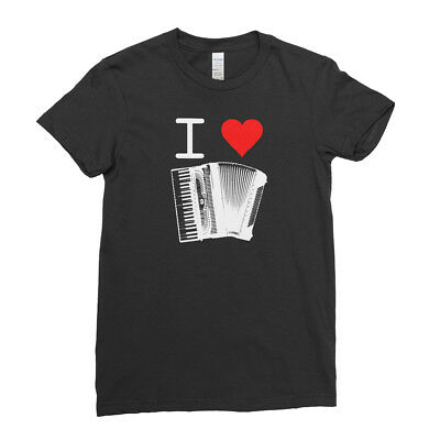 I love Music Instruments Funny Dance Song Women T Shirt Tee Top