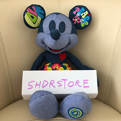 NWT Mickey Mouse Memories june Plush love peace Disney Store authentic