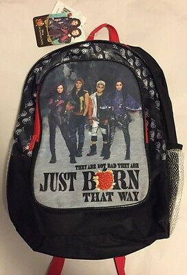 "Disney DESCENDANTS 12"" X 16"" School Backpack w/ Mal Evie Jay Carlos *NEW*"