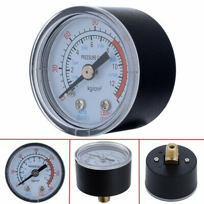 0-180PSI Air Compressor Pneumatic Hydraulic Fluid Pressure Gauge 0-12 Bar
