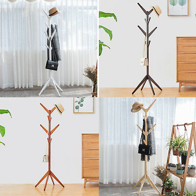 100% Oak hatrack, Wooden coat rack stand 177cm,8 wood hook