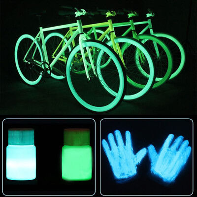 Glow in the Dark Pigment Fluorescent Acrylic Luminous Bright Paint Free Shipping