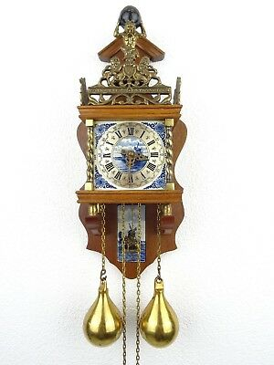Zaanse DELFT Dutch Wall Clock Vintage Antique (Warmink Hermle Junghans Era)