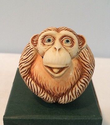 "NEW Harmony Kingdom 2000 Monkey Roly Poly #TJRPMO ""Dizzie"" Rare Retired NOS NIB"