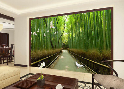 Dense Bamboo Forest 3D Full Wall Mural Photo Wallpaper Printing Home Kids Decor