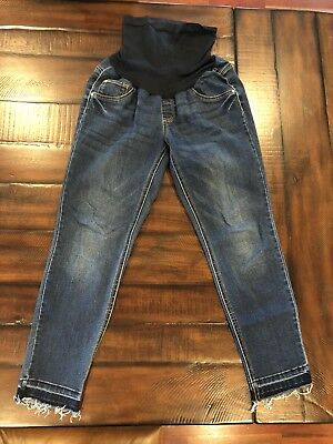 Jessica Simpson Maternity frayed ankle jeans Medium
