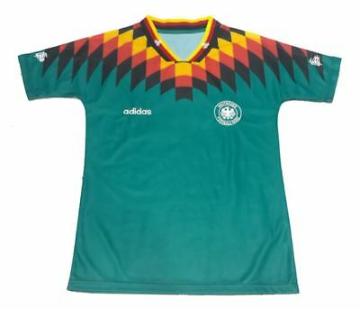 NEW Embroidered 1994 West Germany Away Retro Football Shirt Kit Top Jersey UK