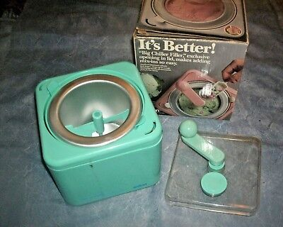 Vintage Salton Big Chill Non-Electric 1 1/2 Quart Ice Cream Maker - Green