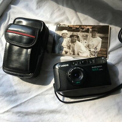 Canon Sure Shot Max Date 35mm Point and Shoot Camera