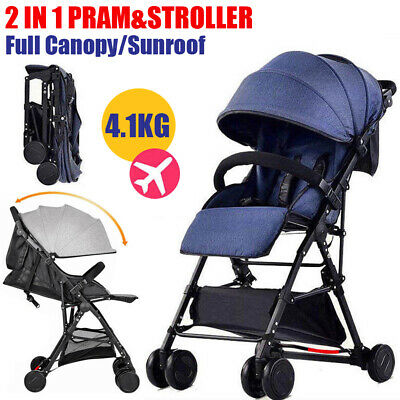 BABYCORE Fold Lightweight Compact Baby Stroller Pram Pushchair Travel Carry–on