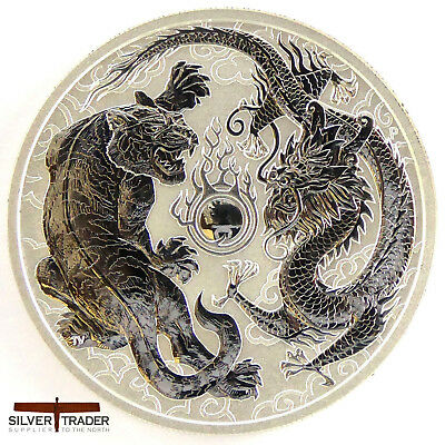 2018 1oz Australian Tiger and Dragon 1 ounce Silver Bullion Coin unc: