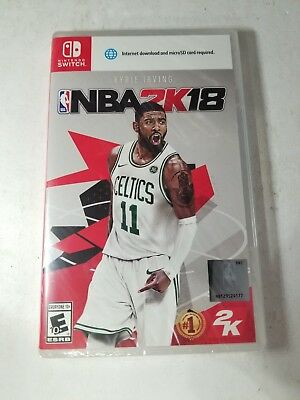 Nba 2K18  2018 With Kyrie Irving For Nintendo Switch New Factory Sealed H17
