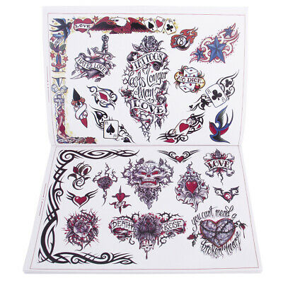 Various Design Tattoo Reference Book Sketch Picture Instruction Sheet 80Page