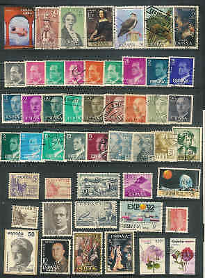 Spain Nice lot of 50 used stamps  A6