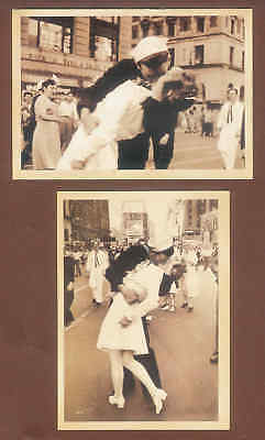 Retro style Postcards First Kiss after the war C20